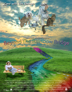 Beyond The Rainbow Bridge - a poster created for a fictitious autobiographical movie in a digital art class.